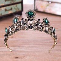 ingrosso fascia dei cuori della regina-Baroque Ancient Crown Hoop Bride Headwear Un abito da sposa Crown Head Copricapo