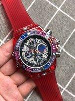 könig quarzuhren großhandel-A3 qualität männer luxus könig uhr voller diamanten lünette sechs zeiger arbeiten automatische quarzuhren tourbillon mont relogio gg1000 armbanduhren