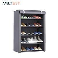 Wholesale 3 Layer Stainless Steel Shoes Shelf Easy Assembled Shoe Rack Cabinet Shoes Organizer Stand Holder Keep Home Neat Shoe Box Q190429
