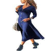 ingrosso maglioni eleganti di modo delle donne-2018 Cardigan Fashion Women europeo elegante lungo maglioni femminili lavorati a maglia sottili abbigliamento Streetwear LC0001