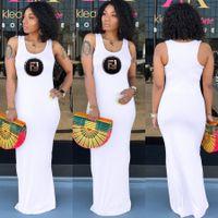 pul renkleri toptan satış-Yaz Kadın Mektup Sequins Elbiseler Rahat Maksi Elbiseler Şeker Renk Kadın Kolsuz Bodycon Elbiseler