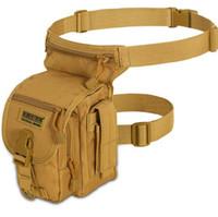 saco de cintura impermeável ao ar livre venda por atacado-Seibertron Sacos de Cintura À Prova D 'Água MOLLE Sacos de Cintura Tático Saco de Perna de Bolso Atravessar Cintura Perna Cintos de Ciclismo Sacos Ao Ar Livre CCA11127 10 pcs