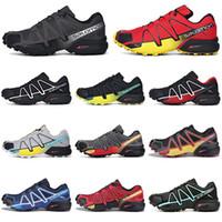 mens chaussures imperméables vente achat en gros de-Vente chaude Salomon Speedcross 4s CS Chaussures de course Hommes Speed cross formateurs hommes en plein air athlétique sport imperméables Sneakers de jogging randonnée