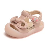 Wholesale closed toed sandals resale online - DIMI New Summer Baby Girls Shoes Cute Bow Girl Toddler Princess Sandals Closed toe Soft Pu Leather Infant Shoes for Girl