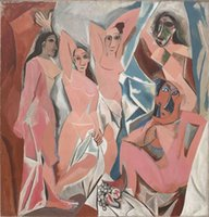Wholesale framed canvas resale online - Pablo Picasso Les Demoiselles d Avignon LARGE SIZE Home Decor Handcrafts HD Print Oil Painting On Canvas Wall Art Canvas Pictures