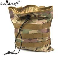 Wholesale magazine pouch molle resale online - Large Capacity Tactical Molle Belt Paintball Hunting Magazine Pouch Dump Drop Reloader