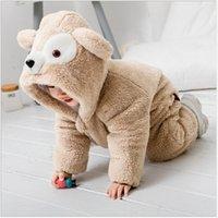 ingrosso abiti da sera-Inverno Bambino spesso Bambino Bambino Pigiama Ragazzo ragazze orso Elefante Animal Tutina con cappuccio Pagliaccetto Tuta Outfit Costume 0-3YPL-001