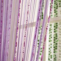 teinture verte achat en gros de-12 couleur Perles en ligne rideau Moderne Fils Dyed Curtains pour Home Salon porte Hôtel Café décoration intérieure Solide Rideau
