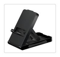 soportes de ángulo negro al por mayor-Interruptor Soporte universal para computadora de juego Soporte de escritorio Soporte para consola de juego Ángulo ajustable Base plegable Soporte Negro Qulity alto