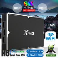 ingrosso chip android tv box-chip di nuova X96H Allwinner H603 6K Android 9.0 TV Box con Dual HDMI Supporto Youtube WIFI Bluetooth Set top box PK X96MINI