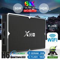 suporte do youtube venda por atacado-Novo chip X96H Allwinner H603 6 K Android 9.0 TV Box com suporte a Dual HDMI Youtube WIFI Bluetooth Set top box PK X96MINI