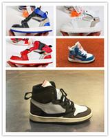 çocuklar için yaz spor ayakkabıları toptan satış-Çocuk basketbol ayakkabıları Üst Kalite Erkekler Kızlar Çocuk Babys 1s Sıcak satış ayakkabı boyutu 28-35 çalıştıran yaz Açık gündelik spor sneakers