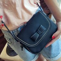 Wholesale fashion girls mobile phone covers online – custom 2019 Fashion Women Handbag Bow knot Small Crossbody Bag Girls Shoulder Bag Korean Version Female Gifts Coin Mobile Phone Packet