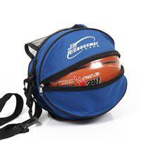 material de voleibol al por mayor-Bolsa de baloncesto de voleibol Forma redonda Deportes al aire libre Hombro ajustable Bolsas de balón de fútbol Accesorios para equipos de entrenamiento Kits de fútbol para niños