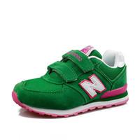 zapatos de marca de moda para niños al por mayor-A estrenar BalΑnce moda K06N venta caliente niños niños casuales zapatos de deporte zapatillas de deporte de los niños zapatillas para niños tamaño 28-36