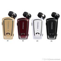 fineblue mini drahtlose bluetooth großhandel-Fineblue F-V3 Bluetooth Headset Mini Wireless Treiber Auriculares Stereo Retractable Clip Audifonos Lauf Kopfhörer für Gym Fone