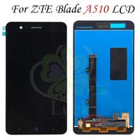 telas do zte venda por atacado-Para zte blade a510 display lcd touch screen digitador para zte blade a510 tela para zte a510 display frete grátis