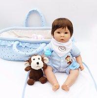 ingrosso peluche blu scimmia-Bebé rinato in silicone baby dolls giocattoli 17