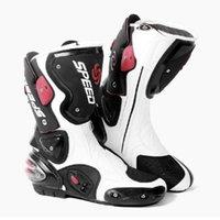 ingrosso motocicletta ad alta velocità-Stivali da moto Protezione dei piedi Pro-Biker SPEED ad alta velocità Stivale da corsa Microfibra Stivali da gara per moto da moto botas da uomo