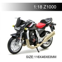 Wholesale model bicycles toy resale online - 1 Motorcycle Models Kawasaki Z1000 Black Diecast Plastic Moto Miniature Race Toy For Gift Collection