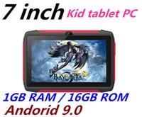 tablet quad core 16gb bluetooth venda por atacado-GRÁTIS DHL garoto Tablet PC Q98 Quad Core 7 polegadas 1024 * 600 tela HD Android 9,0 Allwinner A50 verdadeira Q8 1GB de RAM 16GB com Wi-Fi Bluetooth