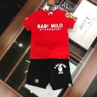 camisas de bebé patrones de animales al por mayor-Ropa infantil Unisex pantalones cortos para bebés Niños pequeños camiseta 2019 nuevos productos Bonito encantador Precios al por mayor rojo Patrón de letras