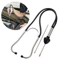 leitor de código do pino do carro venda por atacado-Dispositivo de Som Diagnóstico anormal carro cilindro estetoscópio ferramenta de diagnóstico do motor Cilindro Noise Tester Detector Auto