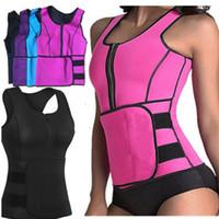 cc0dde5df658f Women postpartum body shaper hot shaper sports tank top neoprene summer  zipper waist trainer sleeveless fitness clothes plus size s-4xL 577