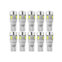 10x T10 W5W Super Bright Car LED Bulb Signal Light 12V Auto License Plate Interior Dome Lamps Motorcycle Car styling White 5W5
