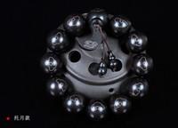 feines ebenholz großhandel-Koraba Fine Jewelry 20mm Männer Schöne Moderne Runde Natürliche Ebenholz Mosaik Silber Armband Freies Verschiffen
