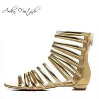Descuento elegantes sandalias doradasRhinestones 2019 de Dell rCBxEodQeW