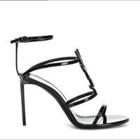 seksi gelinlik tasarımcıları toptan satış-2019 en kaliteli lüks tasarımcı stil rugan stiletto stiletto kadın benzersiz alfabe sandalet gelinlik ayakkabı seksi ayakkab ...
