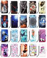 Wholesale chinese pandas resale online - Cartoon Rose Panda Tiger Tower Flower Butterfly Flip Cover case for Samsung A21S Huawei Y5P Y6P P smart NOVA pro G p40 liteE