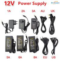 elektrik şeritleri toptan satış-Yüksek Güç Led Trafo 2A 3A 5A 8A 10A Led Güç Kaynağı DC 5 V SMD 5050 WS2812 Led Şerit Işık Için AC 110-240 V