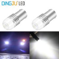 Wholesale car lamp bulb 1157 5w for sale - Group buy 2pcs P21w Ba15s Bay15d P21 W Led COB v Brake Light White Car Led Bulbs Rear Turn Signal Lamp Parking