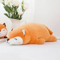 presentes para amantes da raposa venda por atacado-Originalidade Deitado Postura Fox Lint Brinquedos Animal Crianças Presente Amantes Boneca de Pelúcia Boneca de Presente Americano Bonecas Da Menina