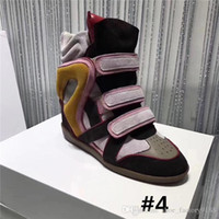 Wholesale women sport shoes high heels resale online - Classic Invisible height Increasing Shoes ankle boot Comfortable leather breathable fabric Fashion sports casual shoes With box