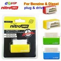 yonga kutuları toptan satış-100pcs DHL Ücretsiz NitroOBD2 Chip Tuning Box Otomatik Diagnotic Arayüz Nitro OBD2 Benzin / Dizel Otomobil İçin / EcoOBD2 Chip Tuning Aracı
