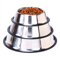 Wholesale small steel bowl for sale - Group buy Stainless Steel Dog Powl Pet Bowl for cats and small dogs feeding for food water Home Outdoor Garden