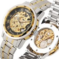 reloj mecánico para niños al por mayor-Relojes mecánicos casuales para hombres, reloj mecánico romano con dial digital para adolescentes, elegante reloj mecánico esqueleto para niño