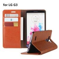 capa para telefone flip lg g3 venda por atacado-Carteira de luxo estilo telefone case capa de couro para lg g3 flip capa de negócios coldre de proteção para lg g3