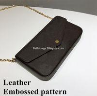 embrague en relieve al por mayor-Patrón de cuero en relieve Bolsa de mensajero de las mujeres Bolso original Bolso bandolera bolso de embrague diseñador de la marca famosa