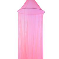 bebek tavan toptan satış-Romantik Pembe Yuvarlak Sivrisinek Dantel Net Bebek Hung Dome Yatak Kubbe Çadır Bebek Yetişkinler Için Tavan Asılı Gölgelik Dekor