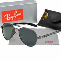 11d8fdaeb36de 2019 Luxury Ray Polarized Sunglasses Men Women Pilot Sunglasses UV400  Eyewear Aviator Glasses Driver Bans Metal Frame Polaroid Lens box