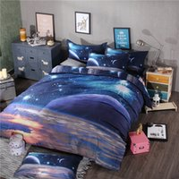 Wholesale king sized bedding sale online - Hot Sale D Galaxy Comforter Bedding Sets Queen Size Universe Outer Space Themed Bedspread Bed Sheets Duvet Cover Set