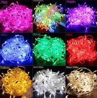 cadena de navidad al por mayor-10 metros 100LED iluminación de la secuencia de la Navidad / boda al aire libre / Twinkle impermeable Decoración de Chrismas / Plug Tree Lights