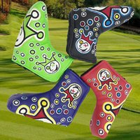 headcovers de golf achat en gros de-2020 Nouvelle Golf Headcovers Qualité novetly Golf Putter Cover Custom Design Golf Headcover Blade Putter Head Broder Headcovers