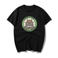árvores japão venda por atacado-Japão Anime Tonari Sem Plante uma árvore Salvar a floresta Imprimir T-shirts Homens Verão Casual Cotton T-shirt Harajuku Streetwear