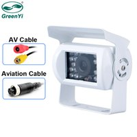 Wholesale white led night camera resale online - GreenYi White Truck Backup Camera Heavy Duty LED IR Night Vision Waterproof Vehicle Rear View Camera For Trailer Pickups RV car