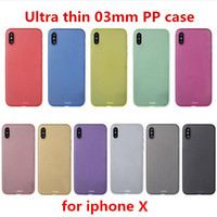 Wholesale ultra slim cell phone for sale – best 0 mm Ultra Thin Slim Matte Frosted Transparent Clear Flexible Soft PP PC Cover Cell Phone Case For iPhone Pro Max XS XR X S Plus